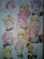 Natsu a Lucy moments from manga by SiLittle