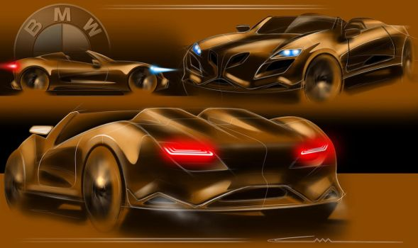 BMW sketch by ALIDESING