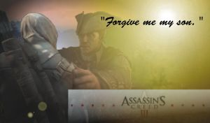 Connor and Haytham Kenway. Forgiveness by Eddmspy