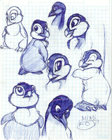 Penguin in a notebook by Mimi-fox
