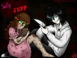 Sally X Jeff-Murderer Love by CamyWilliams9
