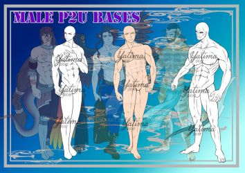 Male P2U Bases by YatimaArt