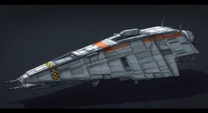 Star Wars Patrol Ship Commission by AdamKop