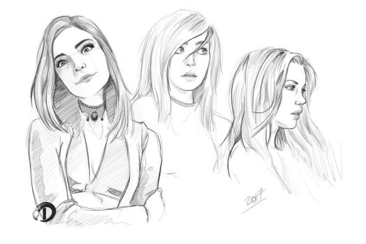 Faces sketch practice by v8galgo
