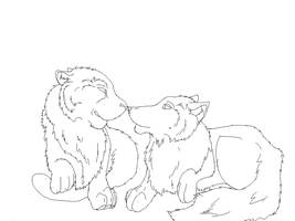 cat and dog line art by Jib-Jab