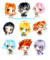 SWord Art Online Chibis by MoonlightAlchemist