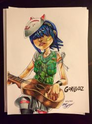 Gorillaz Noodle by banhbao91