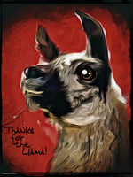Digital Painting: Llamas, Gotta Catch 'Em All! by UkuleleMoon