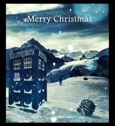 Merry Xmas card- Doctor Who by Belegilgalad