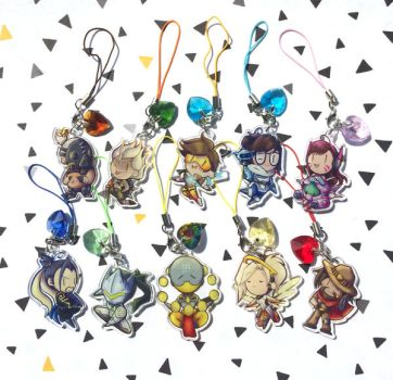overwatch Charms by I-Am-Bleu