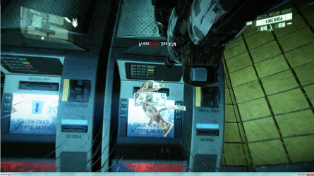 Crysis 2 - Prophet on ATM money by Nohomers48