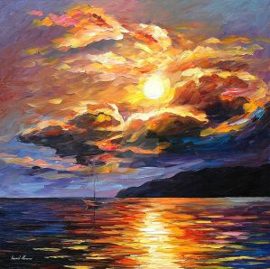 Gold Clouds by Leonid Afremov