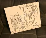 GIft: Pop Team Epic Painting-Line Art by Magical-Mama