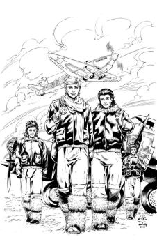 White Lily #2 cover inks by mechangel2002