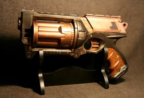 Steampunk Maverick with copper by JohnsonArmsProps