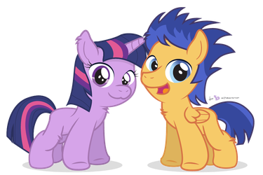 Twiwight and Fwash by dm29