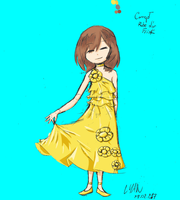 Concept Frisk ( Evening dress ) . Update by Lyan-s-Art
