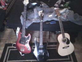 My guitars and bass by MOTLEYLOMBAXCRUE666