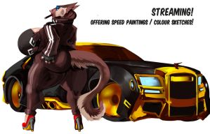 Black and gold streaming by brokencreation