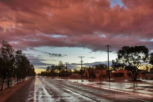 Pink Sky and Floodwater by datazoid