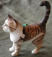 Calico Cat Carving by greencheek