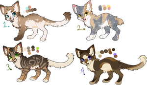 flat sale kitty adoptables #4 open by honeybisque