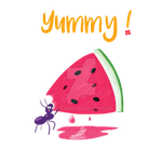 An ant and a watermelon by Cat-Leen
