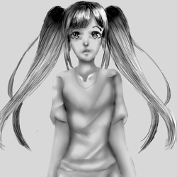 Kinda realistic anime girl but not really its not by Snarfuler