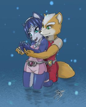 Fox and Krystal lovely time by BlackBy