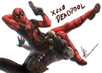 XOXO Deadpool by Asenceana