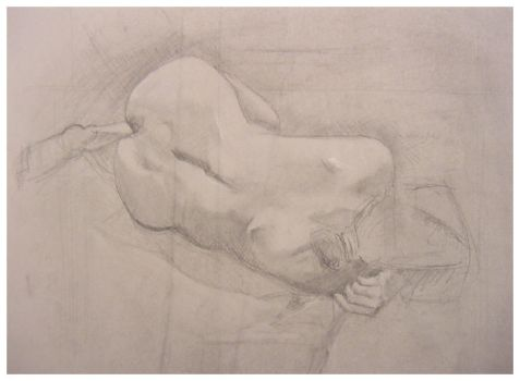 Figure Drawing - Reclined by digitaldecay