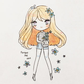 Forget Me Not by mochatchi