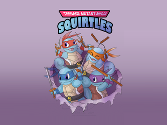 Teenage Mutant Ninja Squirtles by AceOfRiddles
