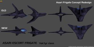 Asari Escort Frigate Redesign by Euderion