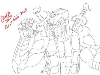 Line Art - Scorpions tribute by EndimionSeth
