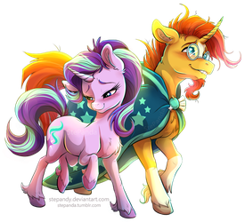 Sunburst and Starlight Glimmer by StePandy
