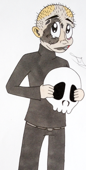 Why you always hidin' your face behind that skull? by XaiIrken