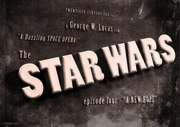 Star Wars - A New Hope -vintage movie title screen by 3ftDeep