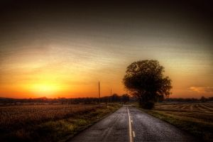 Sunset Road III HDR by joelht74