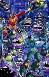Hot Rod and Kup vs Sharkticons by DamianSSimankowicz