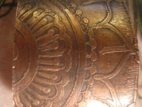 Etched Copper Cuff by Shananagins1974