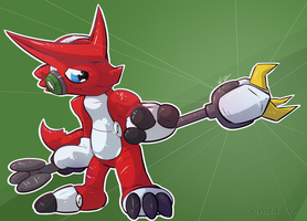 Shoutmon - Day 1408 by Seracfrost