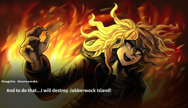 [DR Redraw, SPOILERS] Komaeda in his hopeful glory by Maechi-Toff