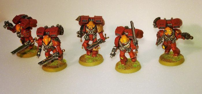 Blood Angels Assault Squad 1 by MirshBeskaryc