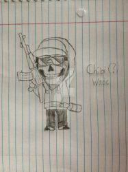 Chibi(?) Wade by BlizzardtheRouge