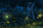World of Warcraft - Duskwood [Coloring Page] by TaraOBerry