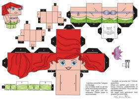 Papercraft Ariel by Louise-Rosa