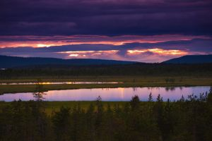 Lake at midnight II by CarpathianWolf