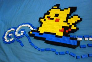 LEGO: Surfing Pikachu_1 by Meufer