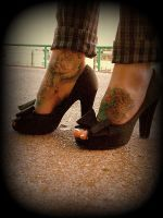 Heels Toes And Tattoos by blackpixifotos